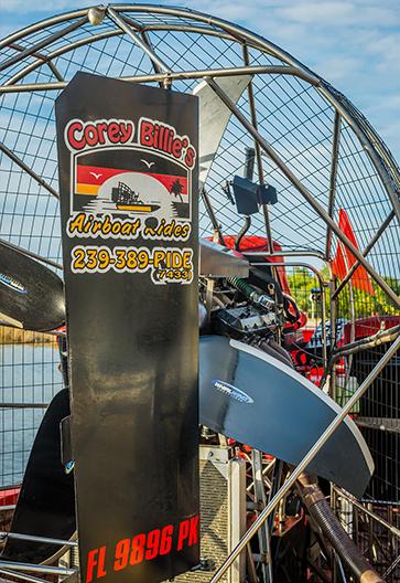 Airboat Engine | Corey Billie's Airboat Rides